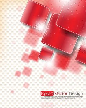 Abstract Bright Background with Rounded Squares - vector #167343 gratis