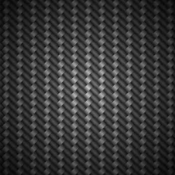 Metallic Carbon Fiber Pattern Background - vector gratuit #167383