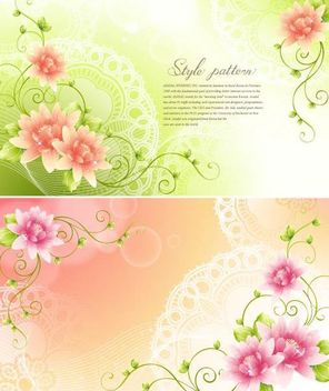 Fresh Swirling Flourish Invitation Card - Free vector #167413