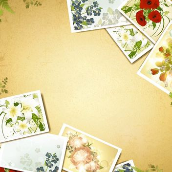 Vintage Background with Floral Photograph - бесплатный vector #167443