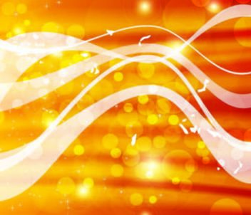 Bokeh Bubbles and Lines in Golden Background - vector gratuit #167463