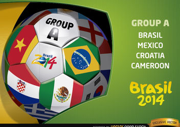 Brasil 2014 Group A Presentation - бесплатный vector #167473