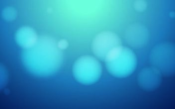 Blue Background with Blurry Bokeh Bubbles - vector gratuit #167483