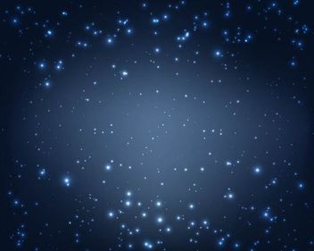 Sparkling Magic Blue Midnight Background - vector gratuit #167563