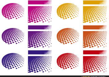 Halftone Backgrounds - vector gratuit #167583