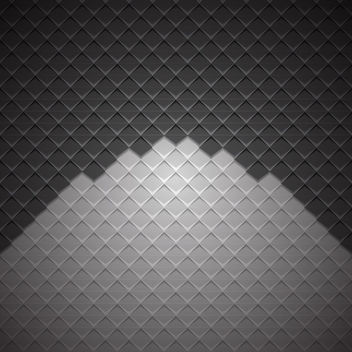 Geometric Cubic Darkish Checker Background - vector gratuit #167623