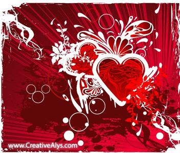 Grungy Abstract Heart Background - vector gratuit #167653