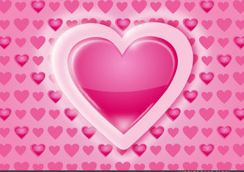 Heart Pattern Background - Free vector #167703