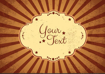 Vintage message sign - vector gratuit #167713