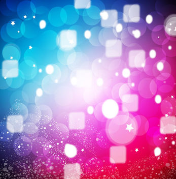 Colorful Glowing Background with Cubes & Bubbles - Free vector #167783