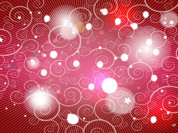 Red Background with Swirls and Lights - vector gratuit #167793