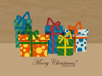 Christmas Gift Boxes with Patterns - Free vector #167843