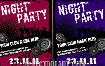 Grungy Musical Template Party Flyer - vector #168073 gratis