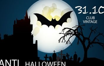 Seasonal Halloween Night Flyer Template - vector gratuit #168103