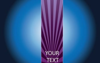 Brochure with Purple Ray - vector #168193 gratis