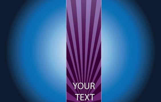 Brochure with Purple Ray - vector gratuit #168193