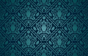 Dark Teal Seamless Pattern - vector gratuit #168203