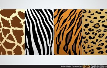 Animal Print Textures - vector gratuit #168213
