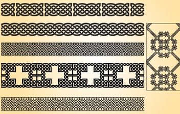 Celtic Pattern Brush Vector - Free vector #168313