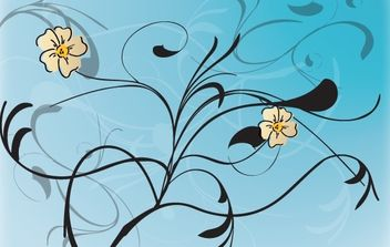 Vector Flowers with Floral Pattern - Free vector #168373