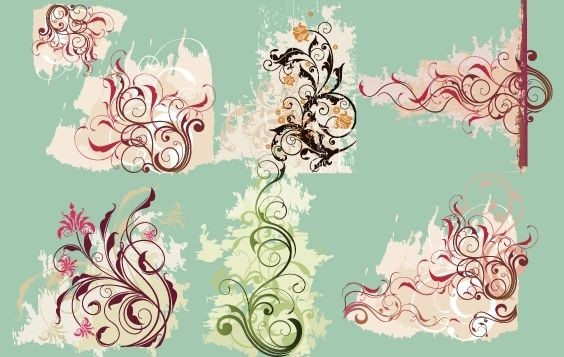 Vector Swirl Flower - vector gratuit #168393