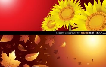 Seasons Background (Autumn & Summer) - vector gratuit #168413