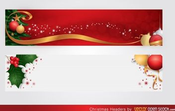 Christmas Headers - vector gratuit #168453