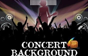 Awesome Free Vector Concert Background - Free vector #168463