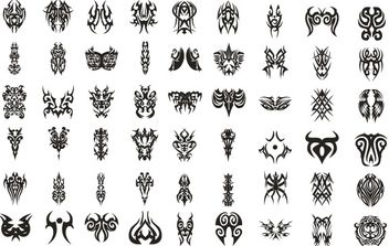 Vector tattoo set - vector #168503 gratis