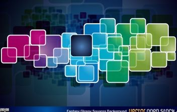 Fantasy Glossy Squares Background - vector gratuit #168523