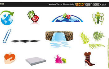 Various Vector Elements - vector gratuit #168573