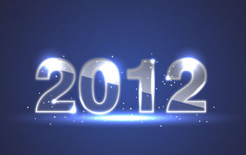 Blue New Year Background - Free vector #168583