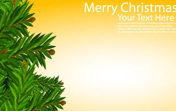 Christmas Card with Tree - Free vector #168633
