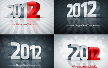 2012 New Year Vector Graphics - Free vector #168663
