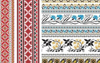 Russian Embroidery Ornament - vector gratuit #168703