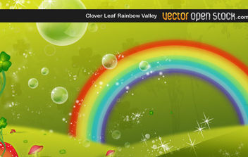 Clover Leaf Rainbow Valley - vector gratuit #168713