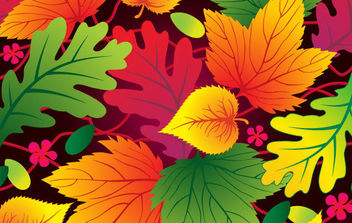 Vector Leaf Background - vector #168853 gratis