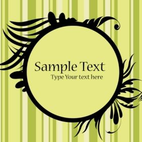 Floral Frame with Sample Text - vector #168893 gratis