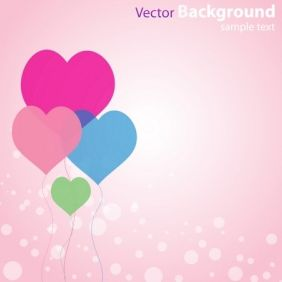Abstract Love Background - Free vector #168903