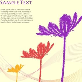 Vector Floral Template - Free vector #168923