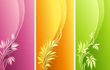 Fashion Floral with Curve Background - Free vector #168973
