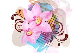 Flower Vector Illustration - Free vector #168983