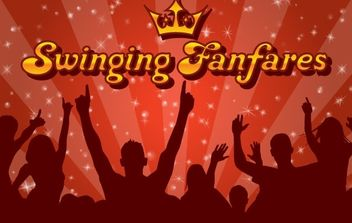 Swinging Funfares Wallpaper Vector - бесплатный vector #169003