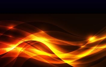 Abstract Golden Glow Background Vector Illustration - vector gratuit #169073
