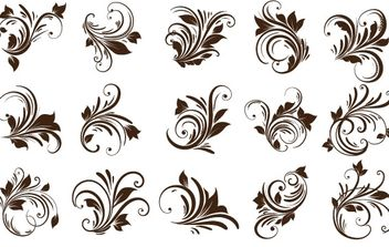 Floral Ornaments Element - Free vector #169143