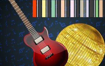 Disco Ball with Guitar - vector gratuit #169163