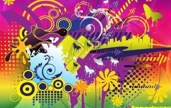 Colorful Summer Vector - Free vector #169273