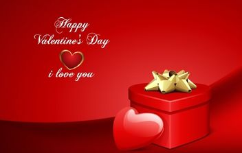 Valentine's Day Card Vector - Free vector #169333