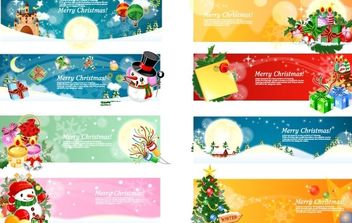 Vector Christmas Banners 2 - бесплатный vector #169493
