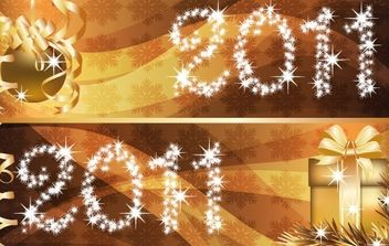 New Year banner 4 - vector gratuit #169513